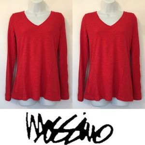 Mossimo Supply Co Tops - 🍍CLEARANCE🍍 Mossimo Red Burnout Long Sleeve Tee