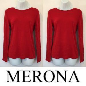 Merona Tops - 🍍CLEARANCE🍍 Merona Solid Red Long Sleeve Tee