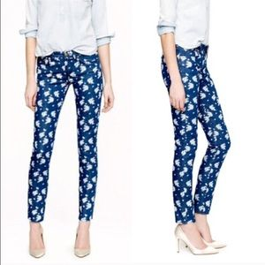 J Crew Cropped Matchstick Floral Jeans