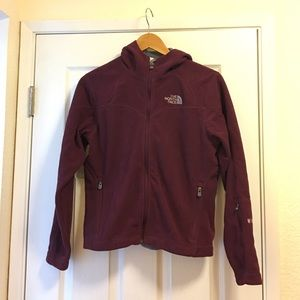North face hooded windwall jacket