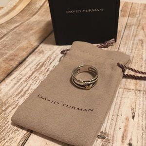 David Yurman X collection ring 18k & silver