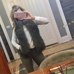 Fabulous Furs Jackets & Blazers - Diane Salyers Fabulous fur faux gray vest xs sm