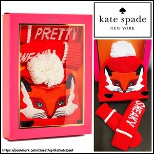 kate spade Other - ❗1-HOUR SALE❗KATE SPADE GIFT SET Beanie Hat Mitten