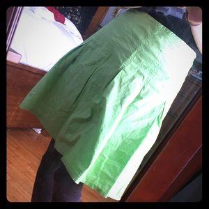 Lime green knee length skirt