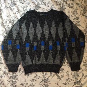 80s Geometric Print Sweater