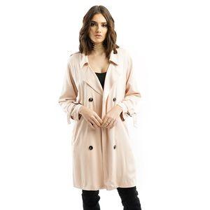 Style Link Miami Jackets & Blazers - NUDE PINK FLOWY TRENCH JACKET