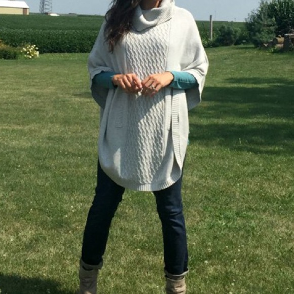 71% off CAbi Sweaters - CAbi Cowl Sweater Poncho from Kristina's ...