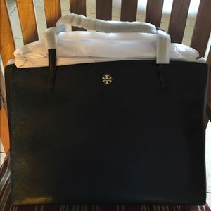 Tory Burch Handbags - Tory Burch Black Saffiano Leather Tote