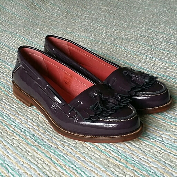 21476648517 Boden Shoes - Boden Purple Patent Leather Tassel Loafer Size 9