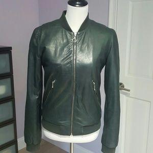 BLK DNM Jackets & Blazers - BLK DNM Leather Bomber Jacket