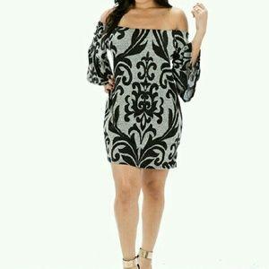 The Blossom Apparel Dresses & Skirts - LOWEST SALE EVER!  Off the Shoulder Brocade Dress