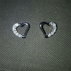 Ice Jewelry - SALE-  NEW- Sterling Silver Heart Earrings/Firm