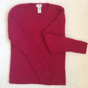 L.L. Bean Sweaters - Lovely soft ribbed wool sweater from LL Bean.