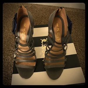 L.A.M.B. Shoes - SEXY gray LAMB heeled sandals. Gently worn