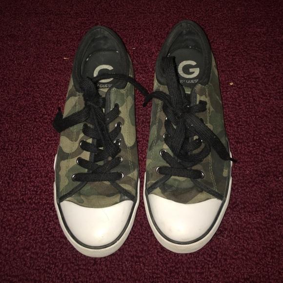 Guess Shoes | Camo Sneakers | Poshmark