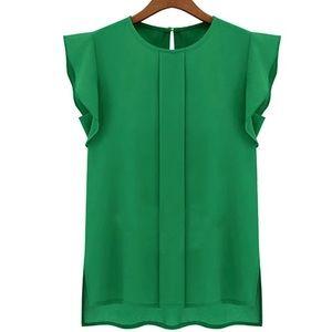 Classic Tops - Beautiful Green Blouse