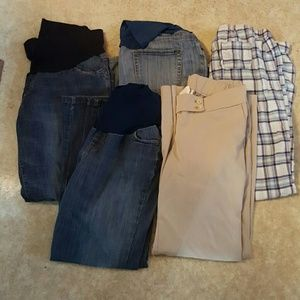 Maternity Pants* 5 Pairs* Size Large