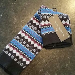 Via Spiga Accessories - Via Spiga leg warmers fair isle design