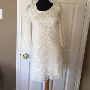 Divided Dresses & Skirts - White lace dress