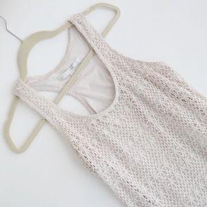 Crochet Maxi Dress in Cream