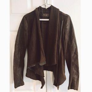 Blank NYC Jackets & Blazers - Blank NYC Mixed Media Faux Leather Drape Jacket