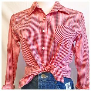 Talbots Tops - 🎈Talbots Gingham Plaid Buton Down Top, Cowgirl