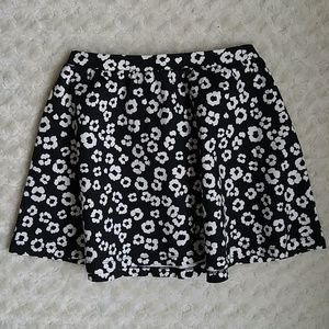Gymboree Other - Gymboree black and off white floral skirt