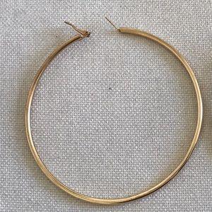 Jewelry Huge Big Gold Hoop Earrings 4 Inch Thick Poshmark