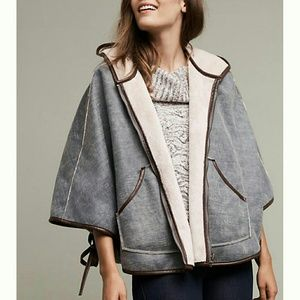 Anthropologie Jackets & Blazers - Reversible Hooded Sherpa Cape