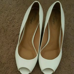 White Wedge Shoes size 11