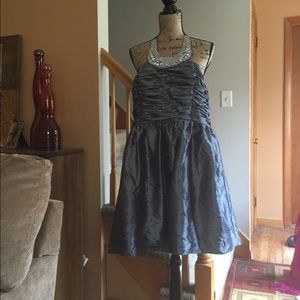 Dresses & Skirts - Beautiful Beaded Haulter Dress, Steel Grey