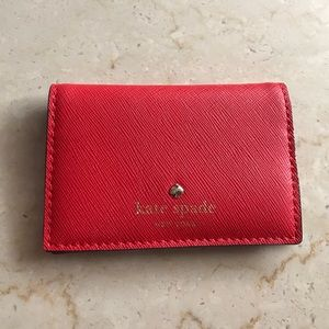 kate spade Handbags - Kate Spade cherry red leather cardholder