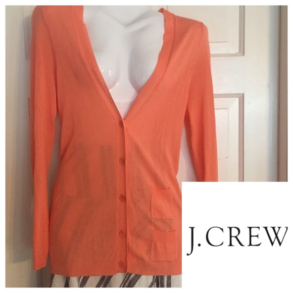 91% off J. Crew Sweaters - ⚜J. Crew Coral Cardigan Sweater. Size ...
