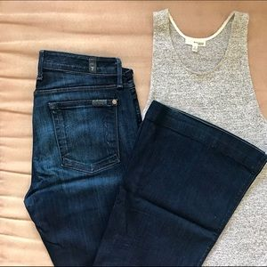 7 For All Mankind Denim - 7 For All Mankind Bell Bottom Super Flare Jeans
