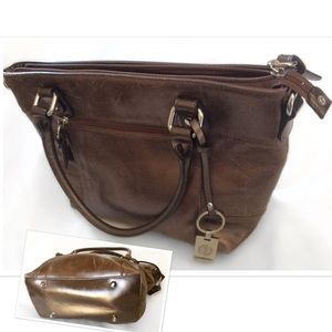 Giani Bernini Handbags - Copper Bronze footed Designer Handbag