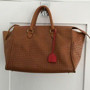 Clare Vivier Handbags - Claire V Vivier Sandrine Basket Weave Large Bag