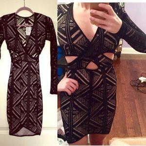 Dresses & Skirts - Cut out crochet sexy little black dress