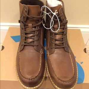 GBX Other - GBX Layne MOC Toe Lace-Up Draft Leather Boots NEW