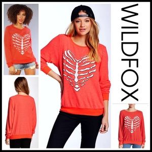 Wildfox Tops - WILDFOX PULLOVER TUNIC Skeleton Heart