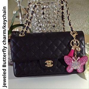 SOPHIA & KATE jeweled butterfly bag charm/keychain