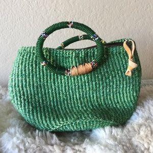 Handbags - Green mini basket purse