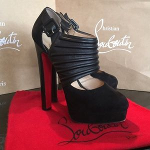 Christian Louboutin Shoes - Christian Louboutin Bye Bye Suede/Leather Platform