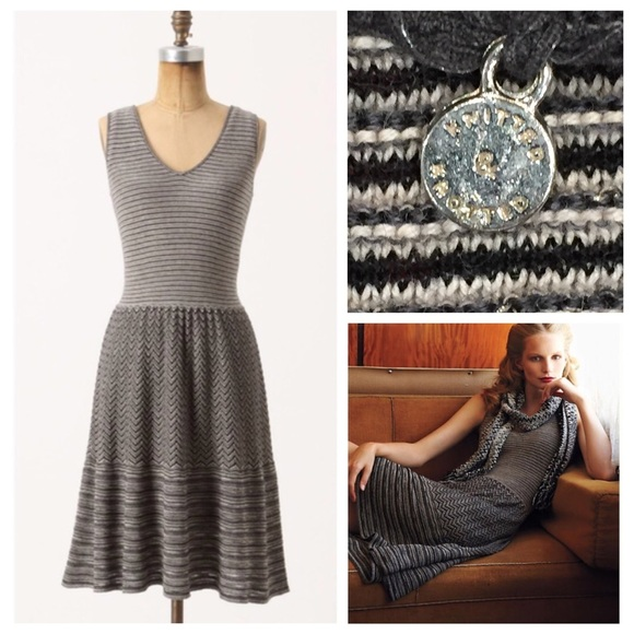 78ac4e178b655 Anthropologie Dresses & Skirts - Test Pattern Sweater Dress by Knitted &  Knotted