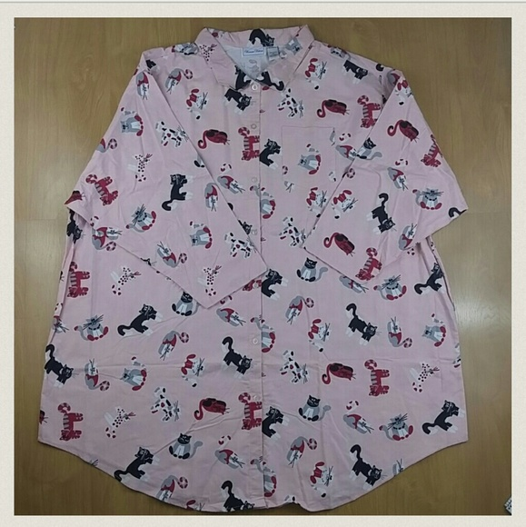 4f59dcadcf Woman Within Plus Size Cat Nightgown 5X NWT
