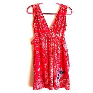Desigual red & white sleeveless mini NWOT