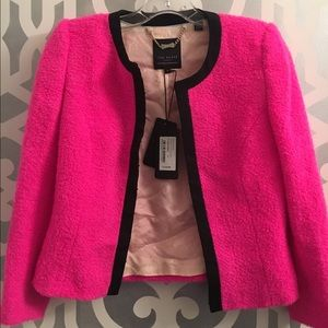 ef9bc3f8fabc67 Ted Baker Jackets   Coats - Ted Baker Neon Pink Cropped Boucle Jacket