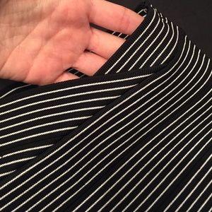 BCBGMaxAzria Striped Bandage Power Skirt