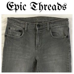 Epic Threads Other - 💸Epic Threads gray denim straight leg Jean size16