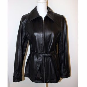 East 5th Jackets & Blazers - East 5th Black Leather Jacket/Coat