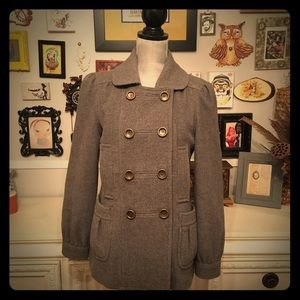 ✂️✂️ Marc by Marc Jacobs Grey Wool Pea Coat